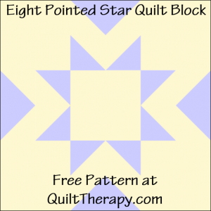 """Eight Pointed Star Quilt Block Free Pattern for a 12"""" quilt block at QuiltTherapy.com!"""