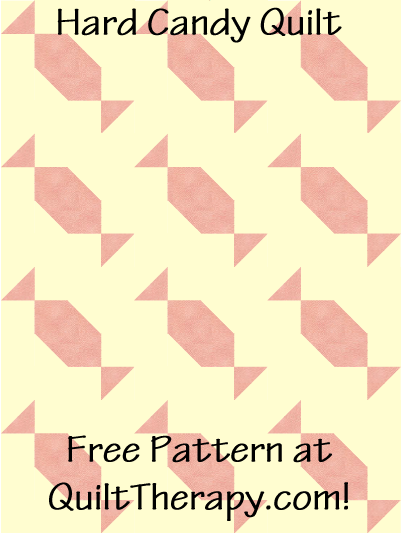 "Hard Candy Quilt Free Pattern for a 36"" x 48"" quilt at QuiltTherapy.com!"