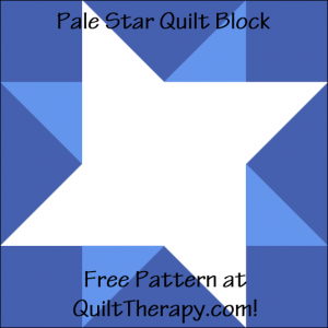 """Pale Star Quilt Block Free Pattern for a 12"""" quilt block at QuiltTherapy.com!"""