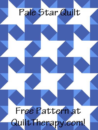 "Pale Star Quilt Free Pattern for a 36"" x 48"" quilt at QuiltTherapy.com!"