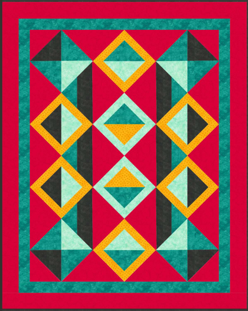 """A Quilter's Dream"" Quilt Pattern - Optical Illusion One - For Member's to earn if they participate in the February 2020 Quilt Dash - Designed by Phyllis Dobbs"