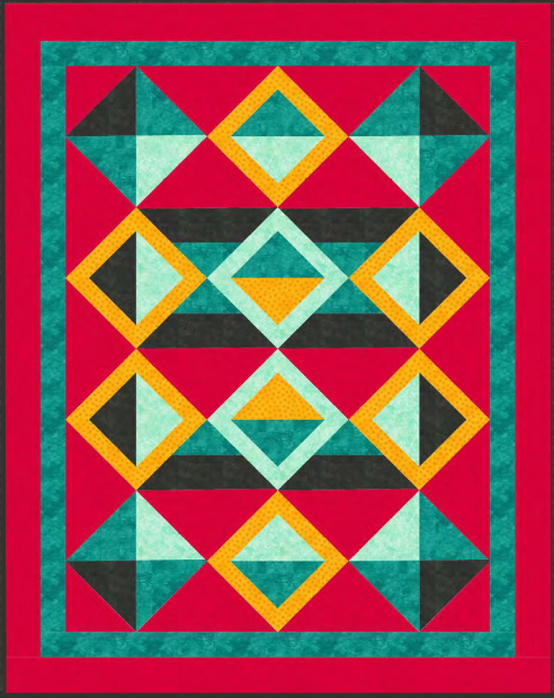 """A Quilter's Dream"" Quilt Pattern - Optical Illusion Two - For Member's to earn if they participate in the February 2020 Quilt Dash - Designed by Phyllis Dobbs"