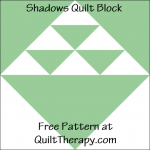 """Shadow Quilt Block Free Pattern for a 12"""" quilt block at QuiltTherapy.com!"""