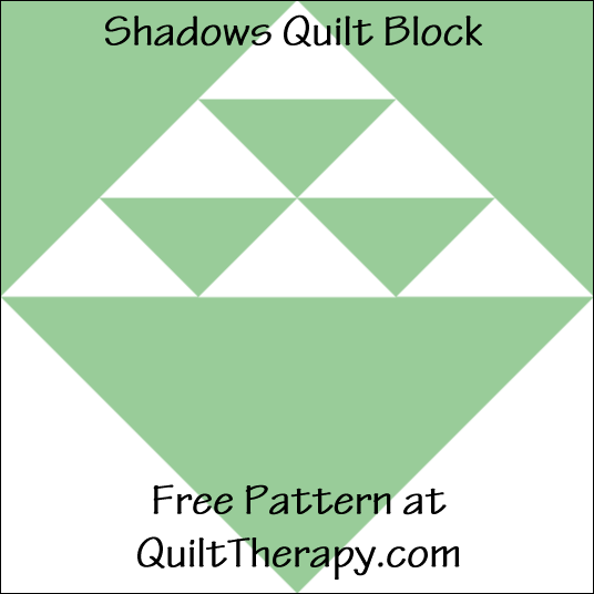 "Shadow Quilt Block Free Pattern for a 12"" quilt block at QuiltTherapy.com!"