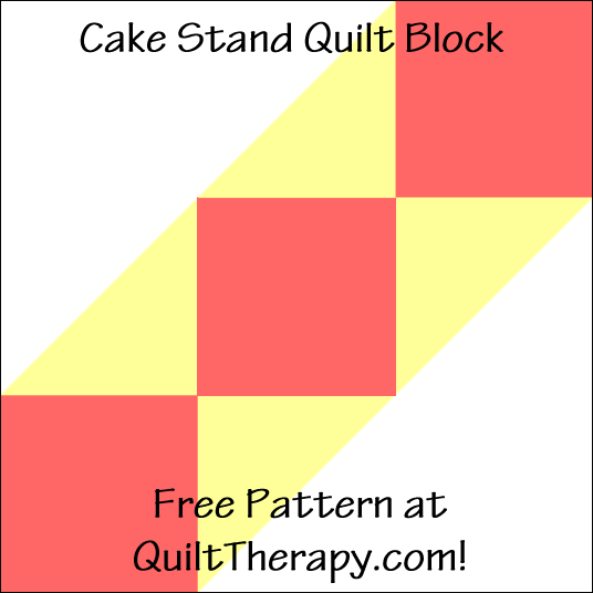 "Cake Stand Quilt Block Free Pattern for a 12"" quilt block at QuiltTherapy.com!"