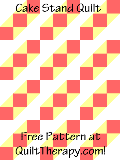 "Cake Stand Quilt Free Pattern for a 36"" x 48"" quilt at QuiltTherapy.com!"