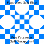"""Flagstone Quilt Block Free Pattern for a 12"""" quilt block at QuiltTherapy.com!"""