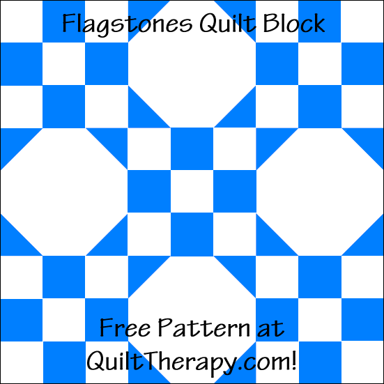 "Flagstone Quilt Block Free Pattern for a 12"" quilt block at QuiltTherapy.com!"