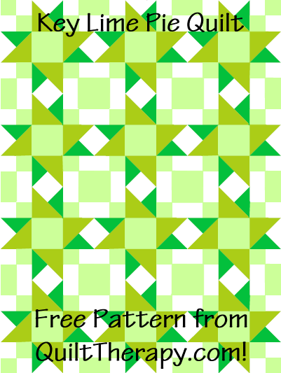 "Key Lime Pie Quilt Free Pattern for a 36"" x 48"" quilt at QuiltTherapy.com!"