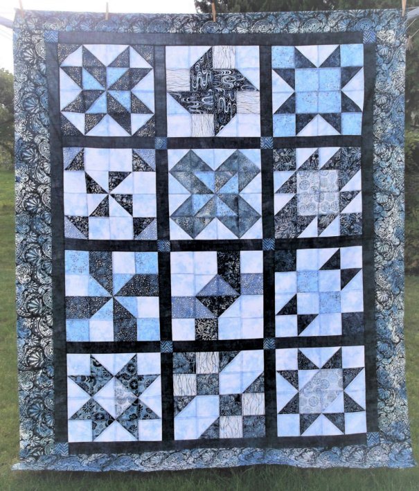 """A Quilt made by Mandy. A member of """"The Good Time Quilters of Blind Bay,"""" Sorrento, British Columbia, Canada. Made my originally designed for BOMquilts.com 2006 Block of the Month quilt called """"Cinnamon-teen Chocolate Figs & Roses."""""""