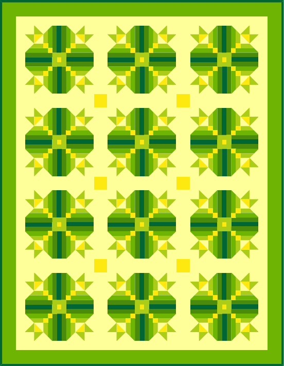 """Ye Olde Irish Jig Quilt"" a free pattern, that Quilt Dash members can earn, if they finish the March 2020 Quilt Dash! Designed by TK Harrison!"