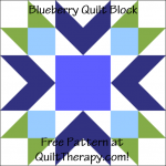 "Blueberry Quilt Block Free Pattern for a 12"" quilt block at QuiltTherapy.com!"