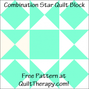 """Combination Star Quilt Block Free Pattern for a 12"""" quilt block at QuiltTherapy.com!"""