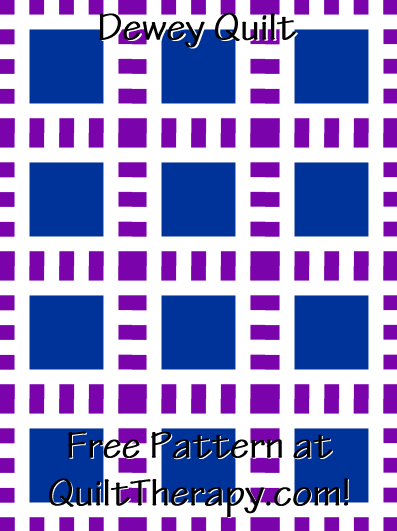 """Dewey Quilt Free Pattern for a 36"""" x 48"""" quilt at QuiltTherapy.com!"""