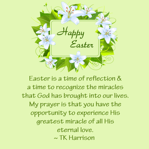 Happy Easter from TK Harrison, Owner of Quilt Dash!!
