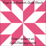 """Pigs in a Blanket Quilt Block Free Pattern for a 12"""" quilt block at QuiltTherapy.com!"""