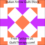 """Indian Arrow Quilt Block Free Pattern for a 12"""" quilt block at QuiltTherapy.com!"""