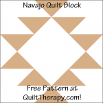 """Navajo Quilt Block Free Pattern for a 12"""" quilt block at QuiltTherapy.com!"""