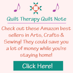 Quilt Therapy Quilt Note for Amazon's Best Sellers in Arts, Crafts, and Sewing!