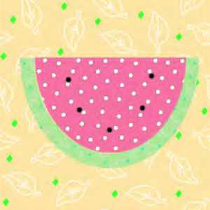 "Watermelon Quilt Block #1 a Free Pattern for a 10"" quilt block at QuiltDash.com!"