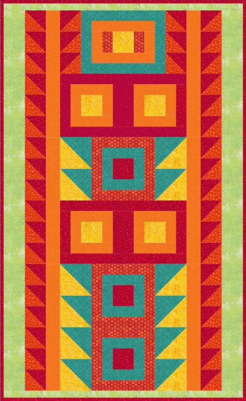 """Playtime - Hopscotch"" a Free Quilt Pattern designed by Phyllis Dobbs for the August 2020 Quilt Dash!"