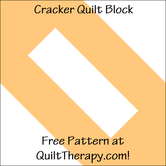 "Cracker Quilt Block Free Pattern for a 12"" quilt block at QuiltTherapy.com!"