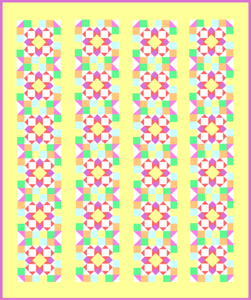 """Fanciful & Fun"" a Free Quilt Pattern for Members who Complete the Quilt Dash in September 2020! Designed by TK Harrison, Owner of Quilt Therapy & Co-Owner of Quilt Dash!"
