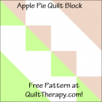 """Apple Pie Quilt Block Free Pattern for a 12"""" quilt block at QuiltTherapy.com!"""