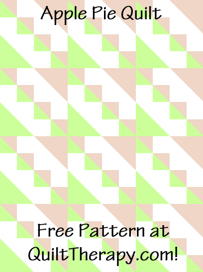 """Apple Pie Quilt Free Pattern for a 36"""" x 48"""" quilt at QuiltTherapy.com!"""