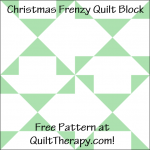 """Christmas Frenzy Quilt Block Free Pattern for a 12"""" quilt block at QuiltTherapy.com!"""