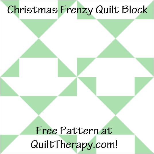 "Christmas Frenzy Quilt Block Free Pattern for a 12"" quilt block at QuiltTherapy.com!"