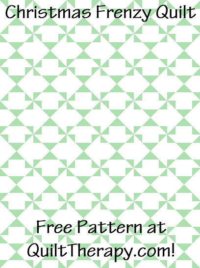 """Christmas Frenzy Quilt Free Pattern for a 36"""" x 48"""" quilt at QuiltTherapy.com!"""