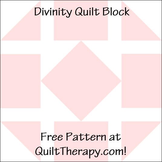 """Divinity Quilt Block Free Pattern for a 12"""" quilt block at QuiltTherapy.com!"""