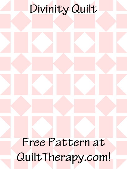 """Divinity Quilt Free Pattern for a 36"""" x 48"""" quilt at QuiltTherapy.com!"""