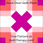"""Good Cheer Quilt Block Free Pattern for a 12"""" quilt block at QuiltTherapy.com!"""