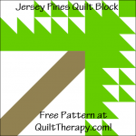 """Jersey Pines Quilt Block Free Pattern for a 12"""" quilt block at QuiltTherapy.com!"""