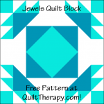 """Jewels Quilt Block Free Pattern for a 12"""" quilt block at QuiltTherapy.com!"""