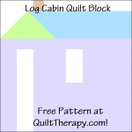 """Log Cabin Quilt Block Free Pattern for a 12"""" quilt block at QuiltTherapy.com!"""