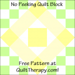 """No Peeking Quilt Block Free Pattern for a 12"""" quilt block at QuiltTherapy.com!"""