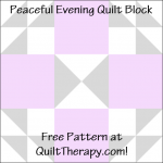 """Peaceful Evening Quilt Block Free Pattern for a 12"""" quilt block at QuiltTherapy.com!"""