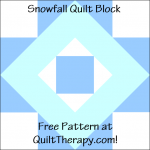"""Snowflake Quilt Block Free Pattern for a 12"""" quilt block at QuiltTherapy.com!"""