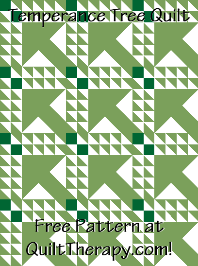 """Temperace Tree Quilt Free Pattern for a 36"""" x 48"""" quilt at QuiltTherapy.com!"""