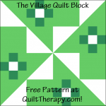 """The Village Quilt Block Free Pattern for a 12"""" quilt block at QuiltTherapy.com!"""