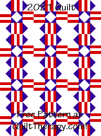 """2021 Quilt Free Pattern for a 36"""" x 48"""" quilt at QuiltTherapy.com!"""