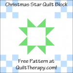 """Christmas Star Quilt Block Free Pattern for a 12"""" quilt block at QuiltTherapy.com!"""