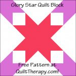 """Glory Star Quilt Block Free Pattern for a 12"""" quilt block at QuiltTherapy.com!"""