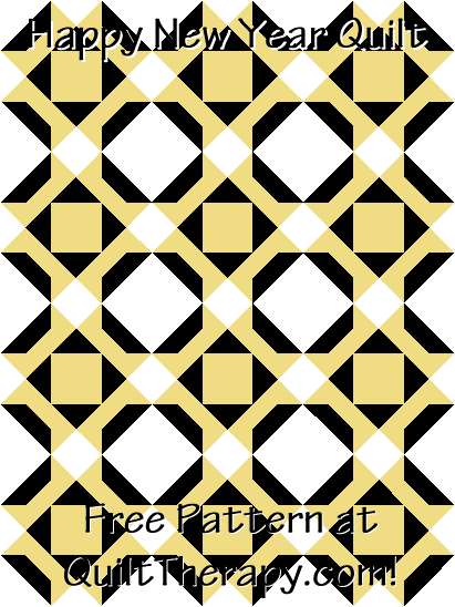 """Happy New Year Quilt Free Pattern for a 36"""" x 48"""" quilt at QuiltTherapy.com!"""