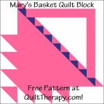 """Mary's Basket Quilt Block Free Pattern for a 12"""" quilt block at QuiltTherapy.com!"""