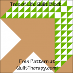 """Tree of Life Quilt Block Free Pattern for a 12"""" quilt block at QuiltTherapy.com!"""