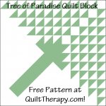 """Tree of Paradise Quilt Block Free Pattern for a 12"""" quilt block at QuiltTherapy.com!"""